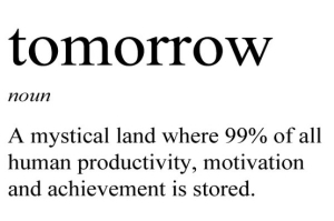tomorrow procrastination